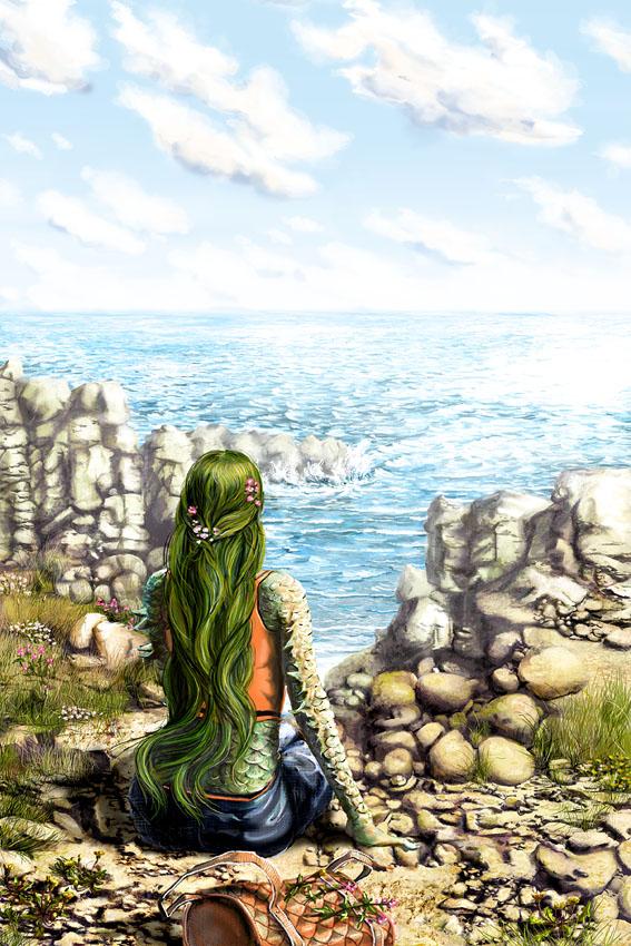 Illustration for Exodus Tides by Aliette de Bodard